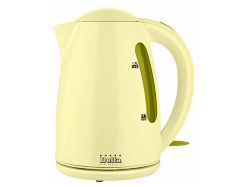 Чайник электрический Delta DL-1302 зелёно-жёлтый, вид 1
