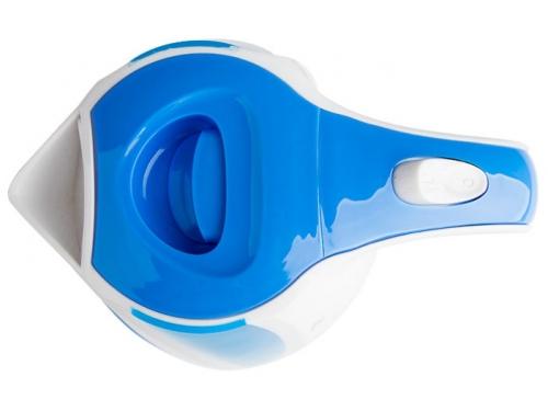 Чайник электрический Delta DL-1327, белый с голубым, вид 2