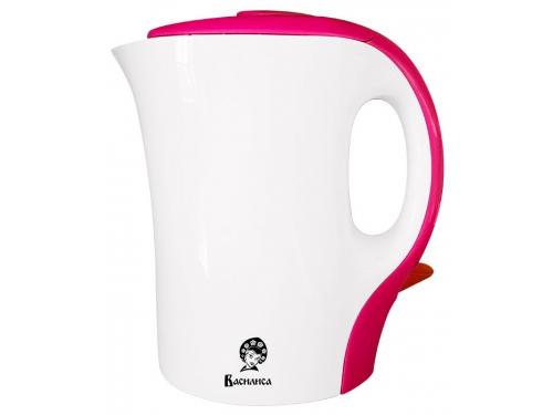 Чайник электрический Василиса T8-1100, белый с розовым, вид 1