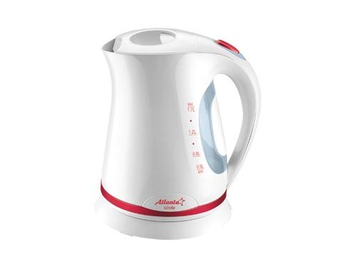 Чайник электрический Atlanta ATH-612, бело-красный, вид 1