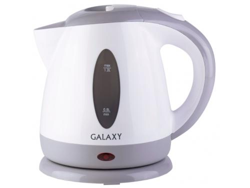 Чайник электрический Galaxy GL 0222, белый с серым, вид 1