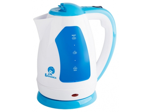 Чайник электрический Василиса Т2-1500, белый с серо-голубым, вид 1