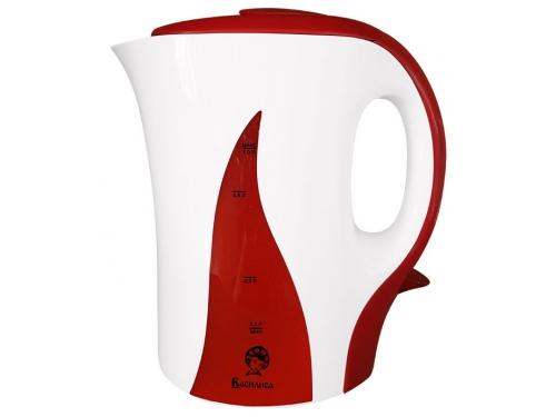 Чайник электрический Василиса Т14-1100, белый с красным, вид 1