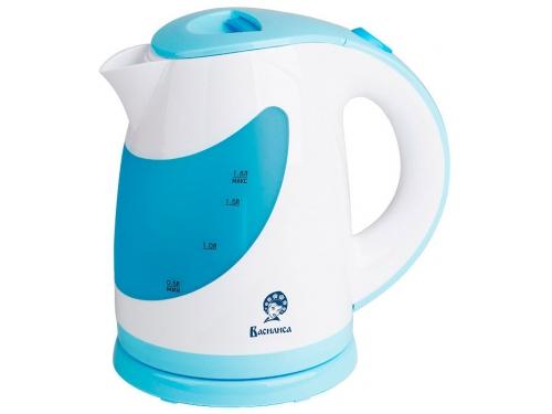 Чайник электрический Василиса Т27-2200, белый с голубым, вид 1