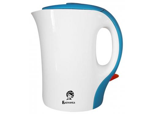Чайник электрический Василиса T7-1100 белый с голубым, вид 1