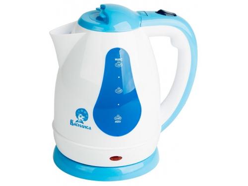 Чайник электрический Василиса Т3-1500, белый с серо-голубым, вид 1