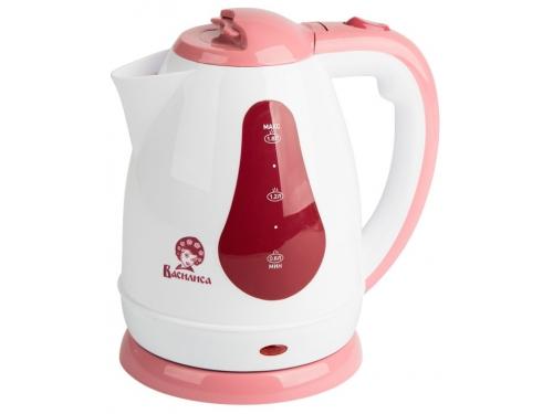 Чайник электрический Василиса Т3-1500, белый с темно-розовым, вид 1