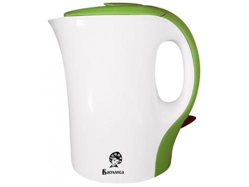 Чайник электрический Василиса T9-1100, белый с зеленым, вид 1
