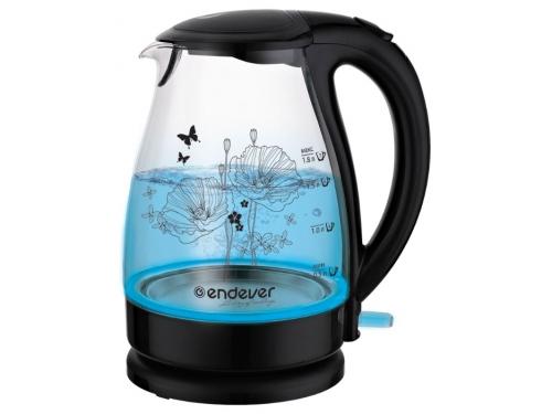 Чайник электрический Kromax Endever Skyline KR-309G, черный, вид 1