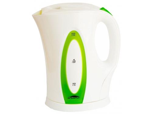 Чайник электрический Эльбрус-4, белый с зеленым, вид 1