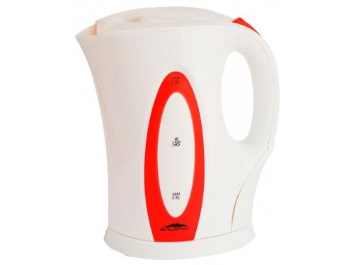 Чайник электрический Эльбрус-4, белый с красным, вид 1