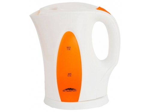 Чайник электрический Эльбрус-3, белый с оранжевым, вид 1