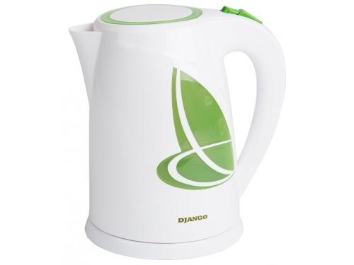 Чайник электрический Django DJ-1002, белый со светло-зеленым, вид 1