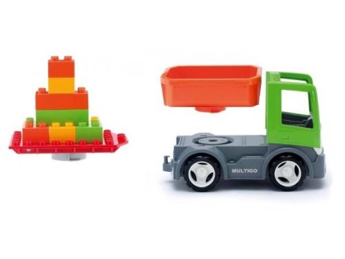 Игрушки для мальчиков efko 27054 Грузовик со строительной платформой, вид 1
