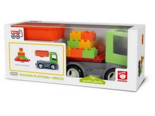 Игрушки для мальчиков efko 27054 Грузовик со строительной платформой, вид 2