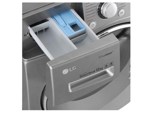 Стиральная машина LG FH-495BDS6, серебристая, вид 4