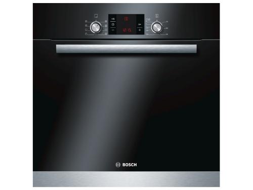Духовой шкаф Bosch HBG63R150F, черный, вид 1
