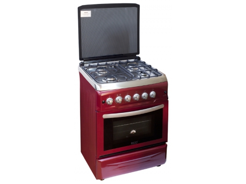 Плита Ricci RGC 6040 RD, красная, вид 1