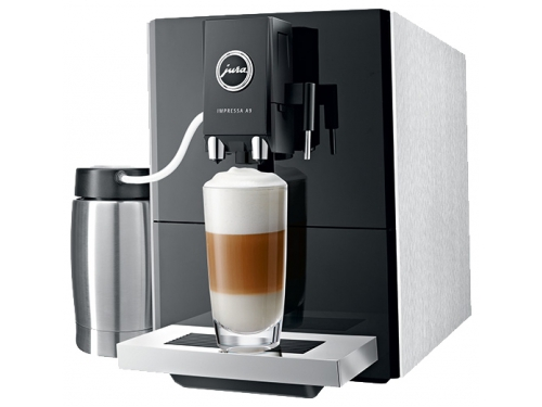 Кофемашина Jura Impressa A9 Platin, серебристо-черная, вид 2