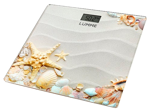 Напольные весы Lumme LU-1328 рисунок Морской пляж, вид 1