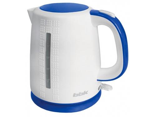 Чайник электрический BBK EK1730P, белый/голубой, вид 1