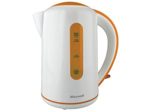 Чайник электрический Maxwell MW-1028, оранжевый, вид 1