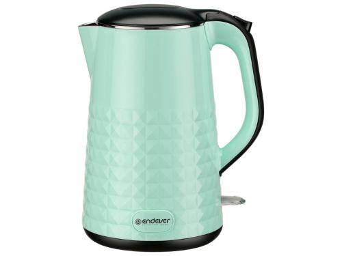 Чайник электрический Endever KR-237S, зеленый, вид 1