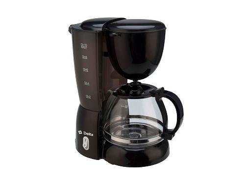 Кофеварка Delta DL-8155, черная, вид 1