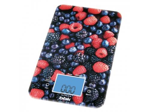 Кухонные весы BBK KS107G, чёрно-красные, вид 1