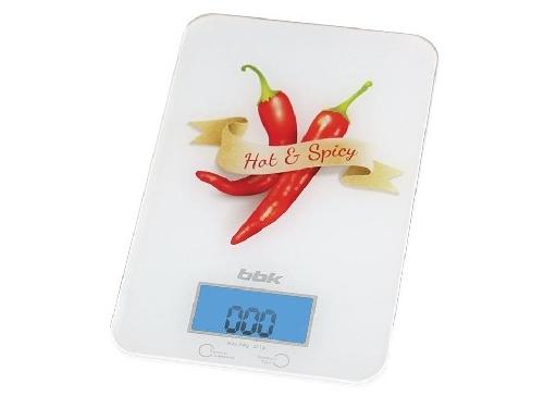 Кухонные весы BBK KS106G белые с красным, вид 1