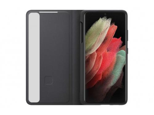 Чехол для смартфона Samsung Galaxy S21 Ultra Smart Clear View Cover (EF-ZG998CBEGRU), черный, вид 4