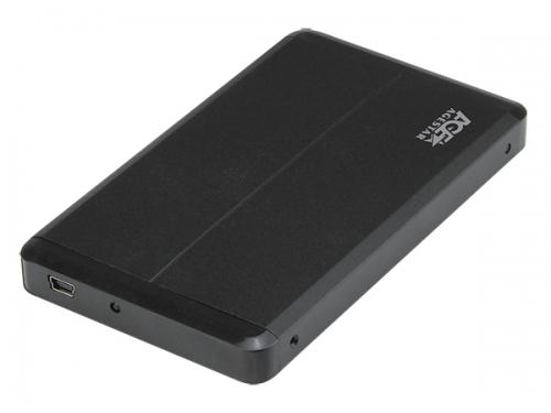 Корпус для жесткого диска AgeStar SUB2O8 USB2.0 (SATA), алюминий, чёрный, вид 1