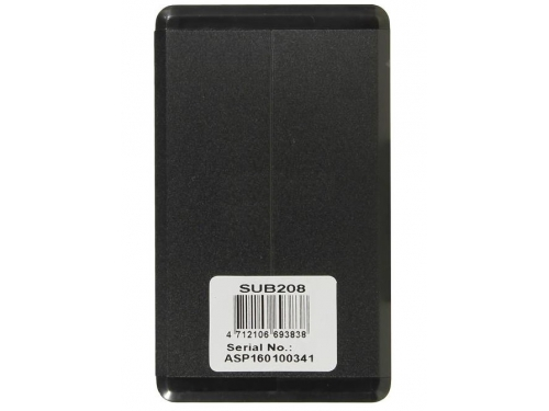 Корпус для жесткого диска AgeStar SUB2O8 USB2.0 (SATA), алюминий, чёрный, вид 3