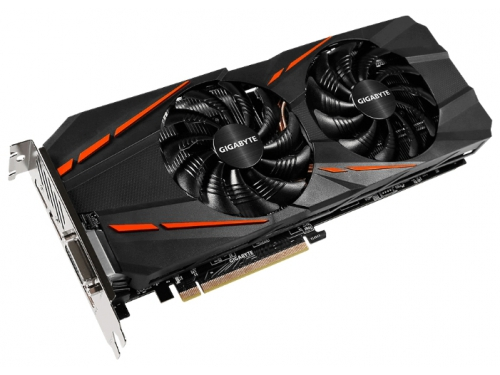Видеокарта GeForce Gigabyte PCI-E NV GTX 1060 3Gb 192b DDR5 D-DVI+HDMI GV-N1060G1 GAMING-3GD, вид 1