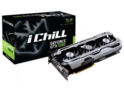 Видеокарта GeForce Inno3D GeForce GTX 1060 1569Mhz PCI-E 3.0 6144Mb 8200Mhz 192 bit DVI HDMI HDCP iChill, вид 2
