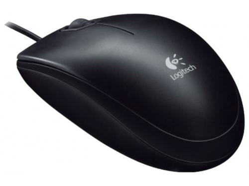 Мышка Logitech B100 Black USB, вид 2