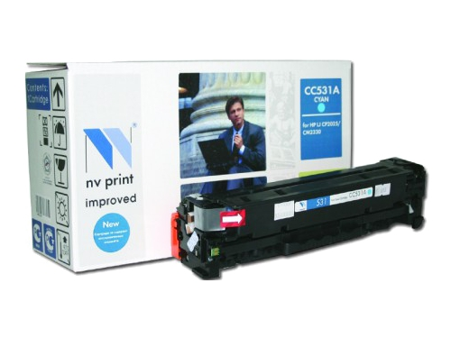 Картридж NV-Print для НР №304А (CC531A) Cyan, вид 1