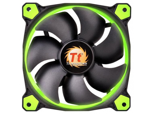 Кулер Thermaltake Riing 14 LED+LNC, зеленый, вид 2