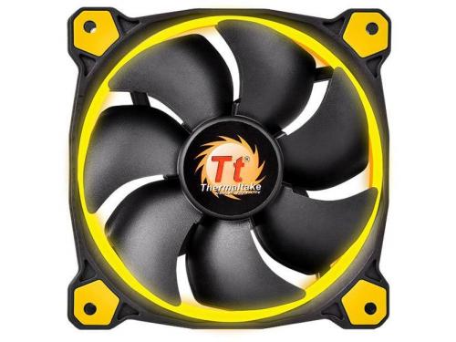 Кулер Thermaltake Riing 12 LED+LNC (120mm), желтый, вид 1