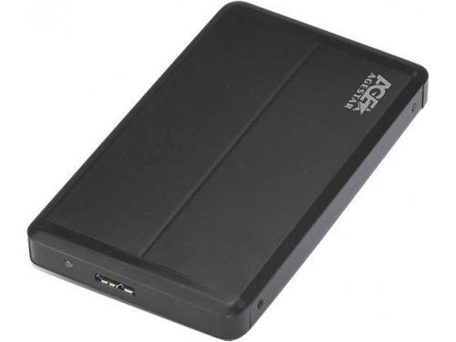 Корпус для жесткого диска AgeStar 3UB2O8 (1x SATA - microUSB, 2.5''), чёрный, вид 3