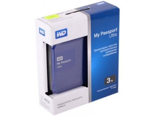 Жесткий диск Western Digital WDBNFV0030BBL-EEUE (3 Тб, 2.5'', внешний, USB3.0), синий, вид 3