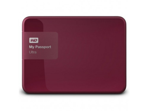 Жесткий диск Western Digital WDBNFV0030BBY-EEUE (3 Тб, 2.5'', внешний, USB3.0), бордовый, вид 3