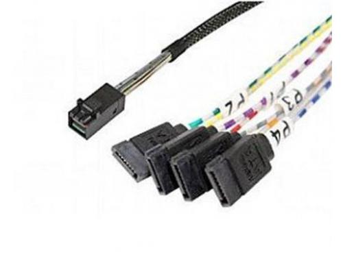 Кабель (шнур) Intel AXXCBL450HD7S 936428 (SFF-8643 - 4xSATA, 2x 450 мм), вид 1