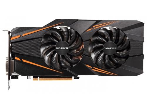 Видеокарта GeForce GIGABYTE PCI-E NV GTX1070 8192Mb 256b DDR5 D-DVI+HDMI GV-N1070WF2OC-8GD, вид 1