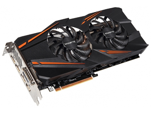 Видеокарта GeForce GIGABYTE PCI-E NV GTX1070 8192Mb 256b DDR5 D-DVI+HDMI GV-N1070WF2OC-8GD, вид 2