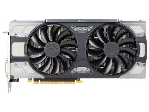 Видеокарта GeForce EVGA PCI-E NV GTX1070 FTW GAMING ACX 3.0 8192Mb 256b DDR5 D-DVI+HDMI 08G-P4-6276-KR, вид 1