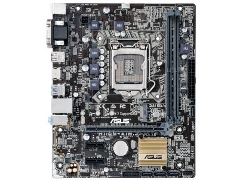 Материнская плата ASUS H110M-A/M.2 Soc-1151 H110 DDR4 mATX SATA3  LAN-Gbt USB3.0 VGA/DVi/HDMI, вид 2