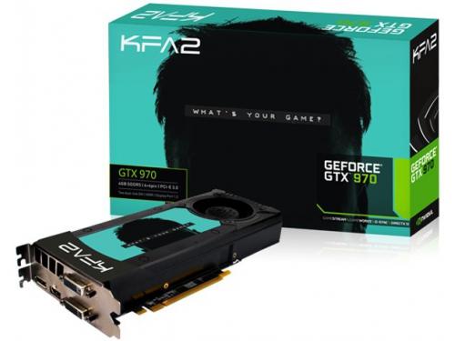 ���������� GeForce KFA2 GeForce GTX 970 1050Mhz PCI-E 3.0 4096Mb 7010Mhz 256 bit 2xDVI HDMI HDCP, 18239, ��� 1
