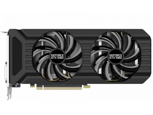 Видеокарта GeForce Palit GeForce GTX 1060 1506Mhz PCI-E 3.0 6144Mb 8000Mhz 192 bit DVI HDMI HDCP (PA-GTX1060 Dual 6G), вид 1