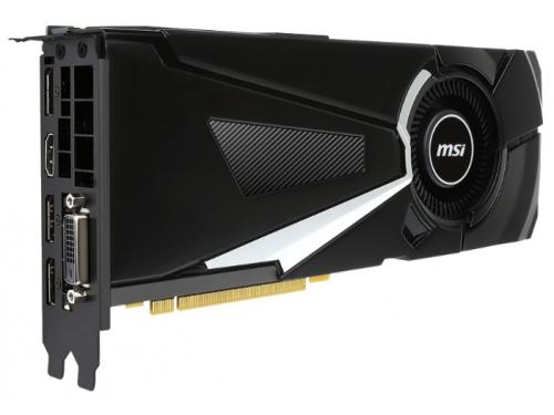 Видеокарта GeForce MSI GeForce GTX 1080 1632Mhz PCI-E 3.0 8192Mb 10010Mhz 256 bit DVI HDMI HDCP, вид 2